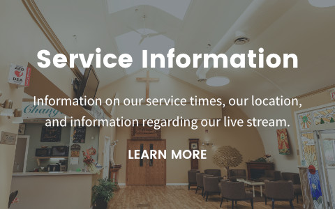 Information on our service times, our location,